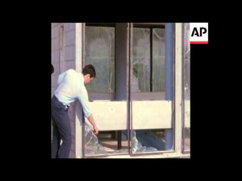 SYND 23-6-72 DAMAGE IN ISRAELI TOWN BY LEBANESE ROCKETS