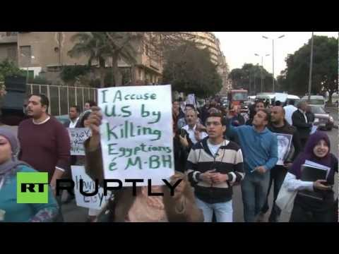 Egypt: John Kerry met by anti-US protest in Cairo