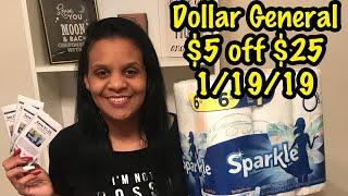 Dollar General 1/19/2019 ~ $5 off $25 BREAKDOWN