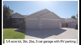 quarter acre lot, single story, 3br 2ba 3 car garage, RV parking, cul de sac in Sparks
