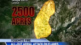 video Rescued hikers airlifted to safety as fire scorches 2500 acres.