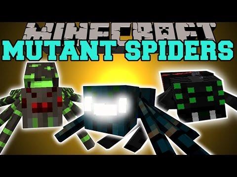 Minecraft: MUTANT SPIDERS GET READY TO DIE Mod Showcase