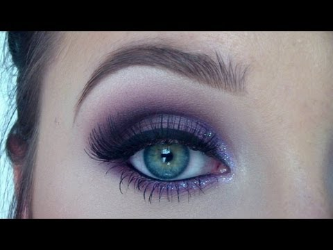 Purple eyeshadow makeup tutorial - from day to night