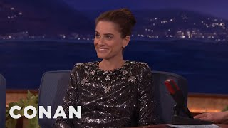 Amanda Peet Can't Stop Swearing Around Her Kids  - CONAN on TBS