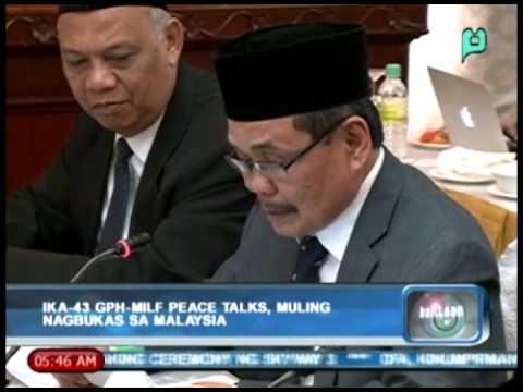 Balitaan: Ika-43 GPH-MILF Peace Talks, muling nagbukas sa Malaysia [Jan. 23, 2014]