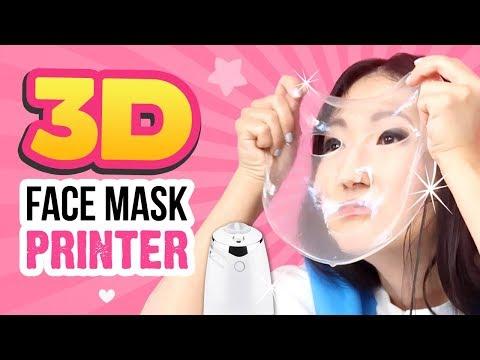 VIRAL Face Mask 3D Printer TESTED!!! Make DIY Pumpkin Spice Latte Face Masks!