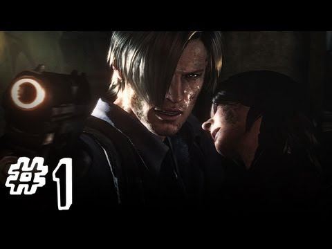 Resident Evil 6 Gameplay Walkthrough Part 1 - Leon / Helena Campaign Chapter 1 (RE6)
