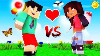 Minecraft - GIRLS VS BOYS CHALLENGE!