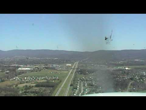 Landing at Eagles Nest Airport in Waynesboro Va.