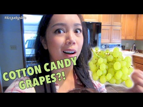 COTTON CANDY FLAVORED GRAPES?! - August 29, 2014 - itsjudyslife daily vlogs