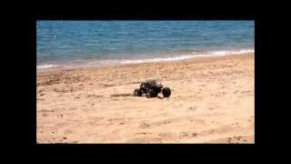 Traxxas Summit on the beach