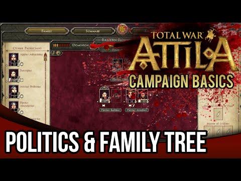 Total War: Attila | Campaign Basics Tutorial - Politics & Family Tree