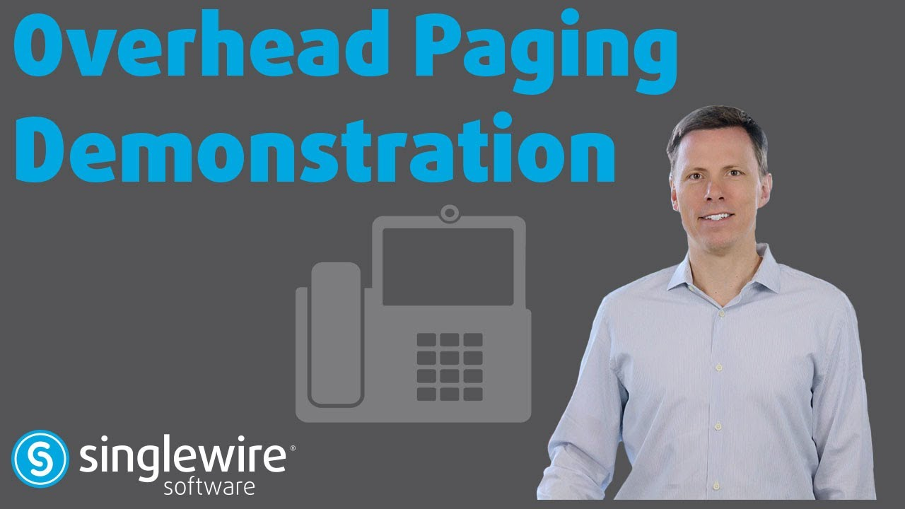 Overhead Paging Demonstration Of Singlewire Informacast