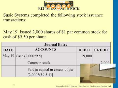 Financial Accounting:  Corporations: Paid-in Capital & the Balance Sheet