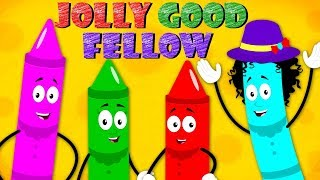 For He's Jolly Good Fellow Nursery Rhymes | Kids Songs For Children By Crayon Nursery Rhymes