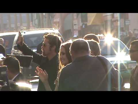 Brad Pitt and Angelina Jolie arrive for LA premiere of Inglourious Basterds