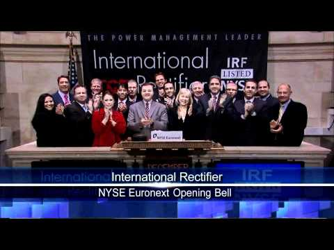 7 Dec 2010 International Rectifier NYSE Opening Bell