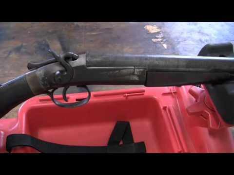 Forehand & Wadsworth single Damascus Barrel Shotgun