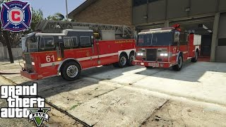 GTA 5 Rescue Mod Day 28 | Play As A Firefighter Mod | Chicago Fire Ladder Truck