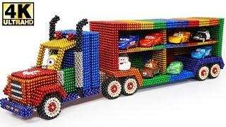 DIY - How To Make Lightning McQueen Transport Truck with Magnetic Balls (ASMR)   Magnetic Man 4K