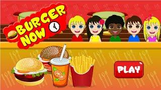 HAMBURGER!!! FUNNY GAME FOR KIDS. HOW TO MAKE HAMBURGER.