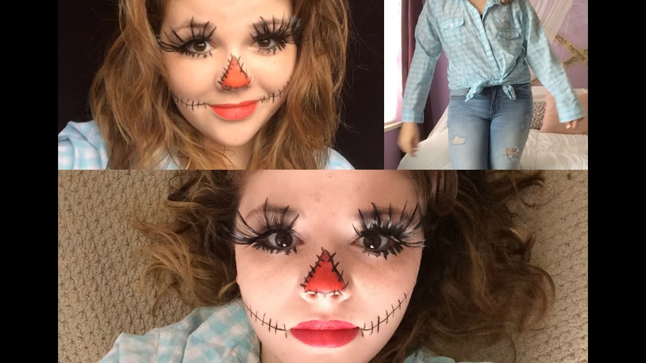 Last Minute Scarecrow haircostume &ampmakeup  YouTube - Last Minute Costume Makeup