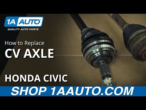 How to Replace Install Axle Shaft 2001-05 Honda Civic