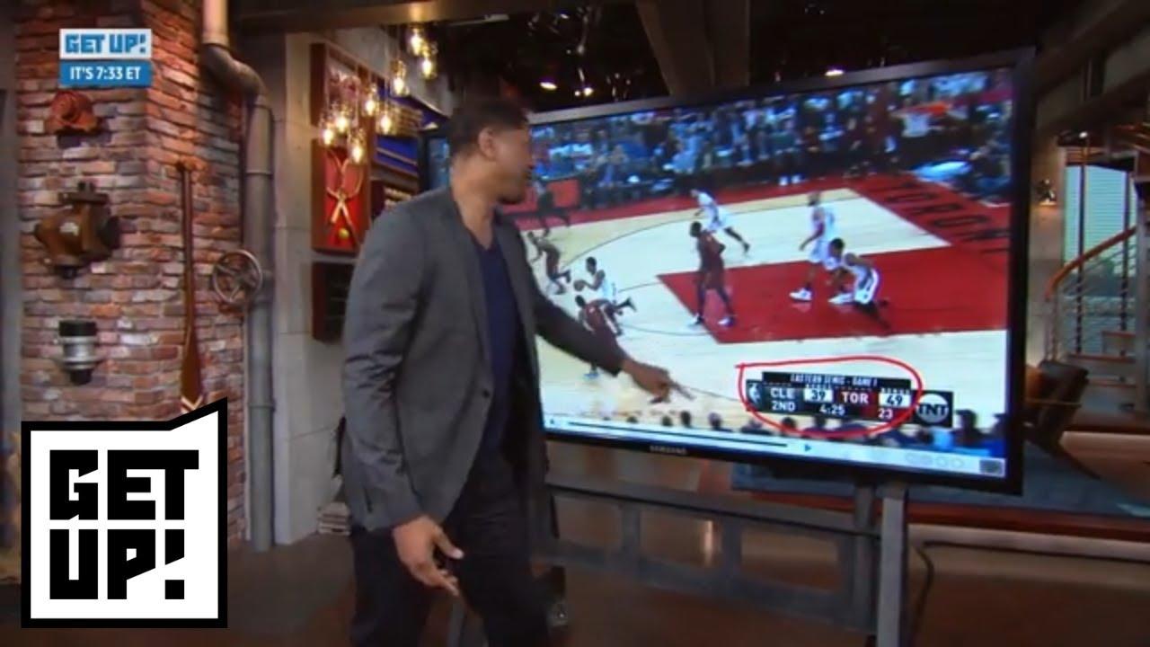 Jalen Rose breaks down film of LeBron James and Cavaliers in Game 1 vs. Raptors   Get Up!   ESPN