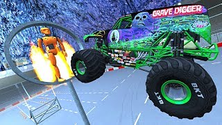 BeamNG.drive - Monster Truck stunts, jumps, crashes, crushing cars, fails #7