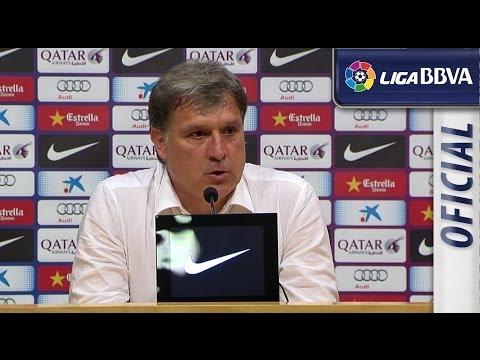 Tata Martino leaves FC Barcelona, after the match FC Barcelona (1-1) Atlético de Madrid - HD