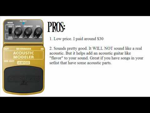 Guitar Effect Pedal Demo:Behringer AM100 Acoustic Modeler Guitar Effect Settings And Demo