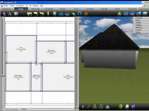 Logiciel 3d maison janicbacon demo 2009 video for Voir sa maison en 3d