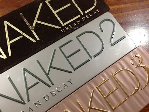 URBAN DECAY NAKED 1 2 & 3 PALETTE REVIEW & Which one will suit you best