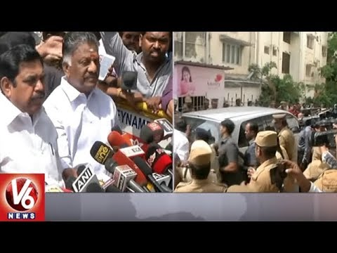 TN CM Palanisamy Visits Kauvery Hospital, Says DMK Chief Karunanidhi Health Stable | V6 News