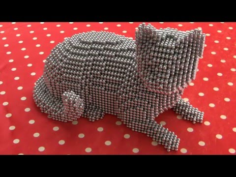 NeoCube Zen Magnets cute cat model and tutorial