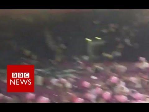 Manchester Incident Eyewitness: Everyone was charging towards the doors - BBC News