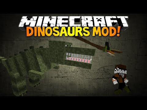 Minecraft: DINOSAURS MOD! - Pre Historic & Ice Age Dimensions & More!