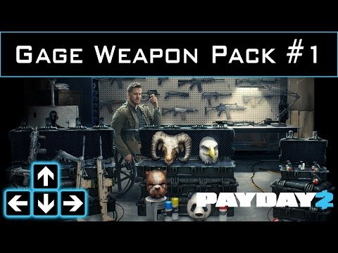 Payday 2 - Gage Weapon Pack #1 DLC First Look - Console Update News