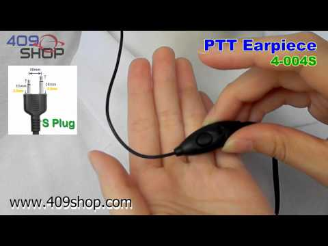 PTT Earpiece for ICOM IC-T7H IC-F3 IC-4008 IC-U16 (4-004S)