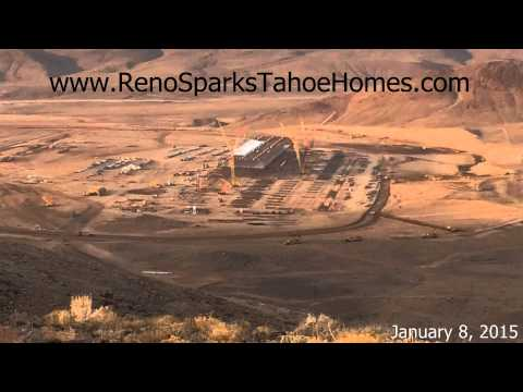 Tesla Gigafactory Progress at the Tahoe Reno Industrial Park - January 2015