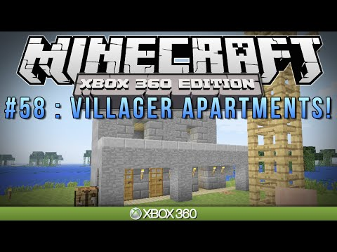 Minecraft Xbox VILLAGER APARTMENTS Survival #58