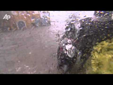 Raw Video: Typhoon Hits Philippines