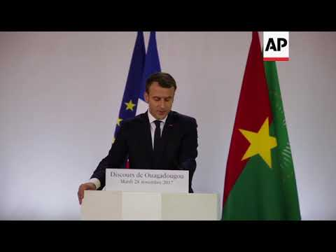 Macron delivers first major address on the African continent