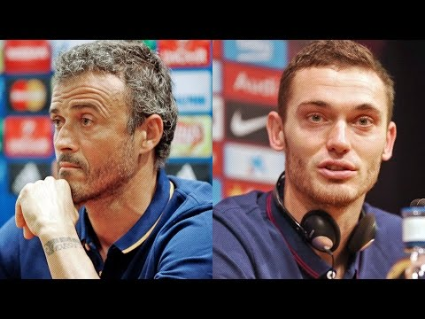 Press conference with Thomas Vermaelen and Luis Enrique
