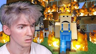 Albert's Minecraft world BURNED DOWN