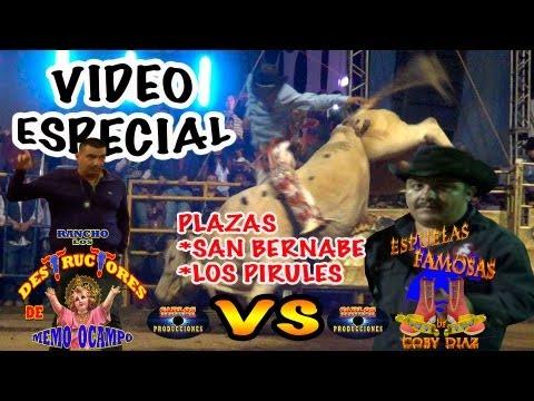 QUE AGARRON¡¡ entre RANCHO LOS DESTRUCTORES Y LAS ESPUELAS FAMOSAS (san bernabe y los pirules 2013)