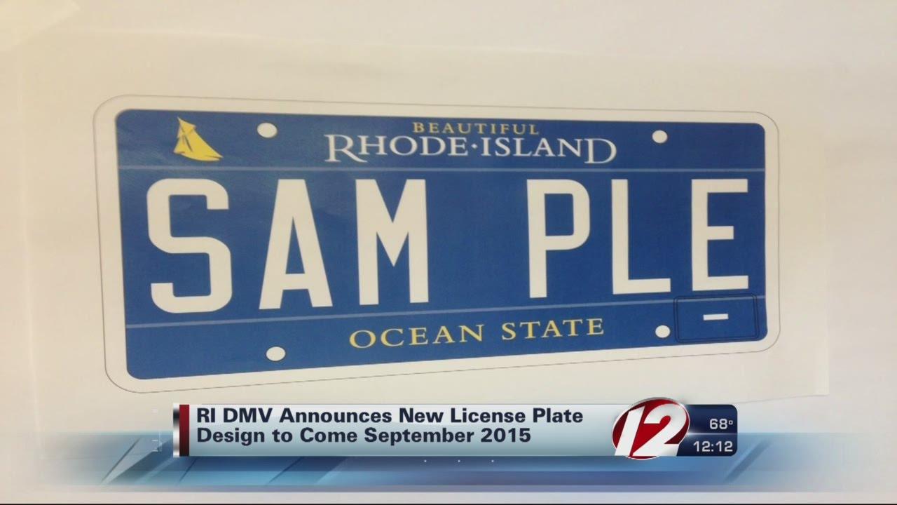 Ri Dmv Reveals New License Plate Design Youtube