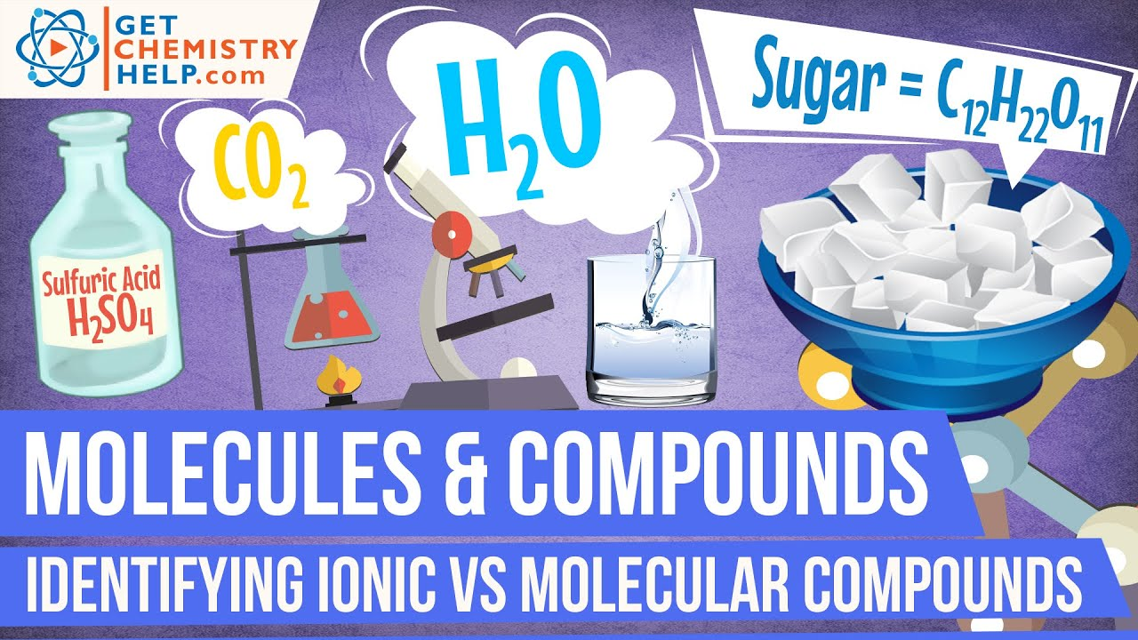 chemistry lesson  identifying ionic vs  molecular