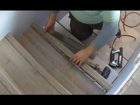 Laminate Stairs Installation How To Install Stair Tread