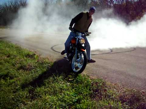 1200 sportster burnout